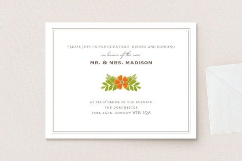 Royal Monogram Reception Cards
