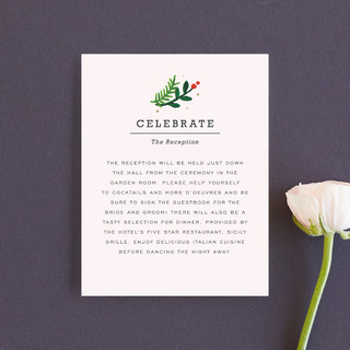 Simple Flora Reception Cards