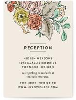 Dahlia Bouquet Reception Cards