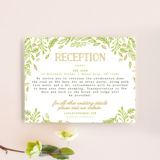 Gathering Of Leaves Reception Cards