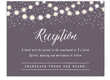 Garden Lights Reception Cards