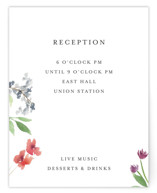 Spring Wildflowers Reception Cards