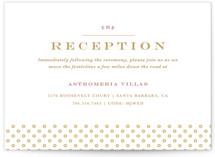 Floral Vignette Reception Cards