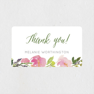 Watercolor Floral Rehearsal Dinner Favor Stickers