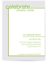 Fancy Free Rehearsal Dinner Invitations
