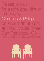 Modern Delight Rehearsal Dinner Invitations