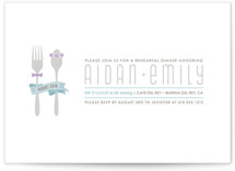 Let&#039;s Eat Rehearsal Dinner Invitations