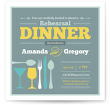 Let's Go Dinner! Rehearsal Dinner Invitations
