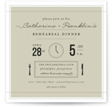 Time for... Rehearsal Dinner Invitations