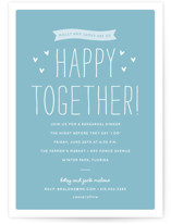 Happy Together Rehearsal Dinner Invitations