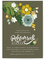 Festive Florals Rehearsal Dinner Invitations