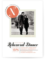 Formal Stamp Rehearsal Dinner Invitations