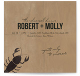 Lobster Love Rehearsal Dinner Invitations
