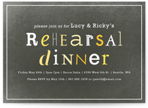 Eclectic Rehearsal Dinner Invitations