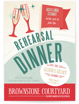 Retro Dinner Rehearsal Dinner Invitations