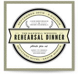 Classic Seal Rehearsal Dinner Invitations