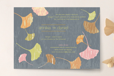 fans of happiness rehearsal dinner invitations by minted