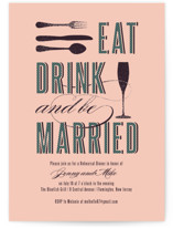 Eat, Drink and be Married Rehearsal Dinner Invitations