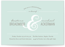 Centerpiece Rehearsal Dinner Invitations