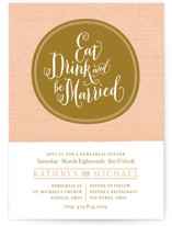 Festive Ellipse Rehearsal Dinner Invitations