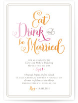 Eat, Drink, and Be Married Rehearsal Dinner Invitations