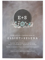 Chalkdust Monogram Rehearsal Dinner Invitations