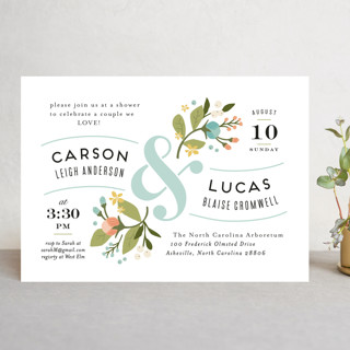 Floral Ampersand Rehearsal Dinner Invitations