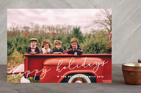 Merriest Script Christmas Photo Cards