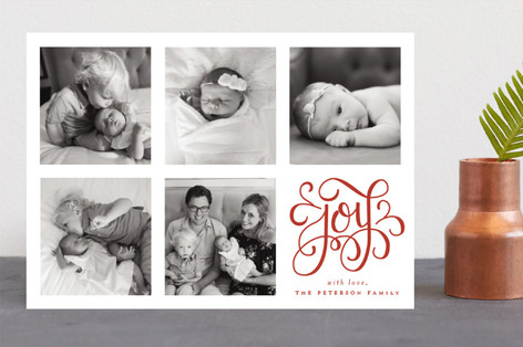 Curly Joy Christmas Photo Cards