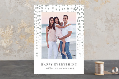 Water drops Christmas Photo Cards