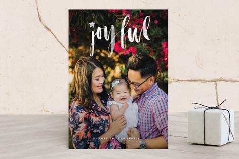 joyful star Christmas Photo Cards