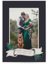 Banner and Boughs Christmas Photo Cards