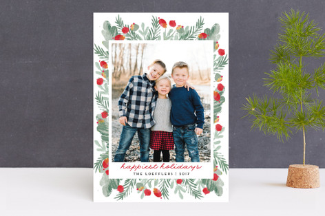 merry bricolage Christmas Photo Cards