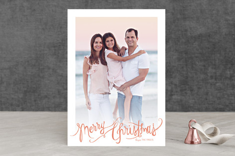 Watercolor Message Christmas Photo Cards