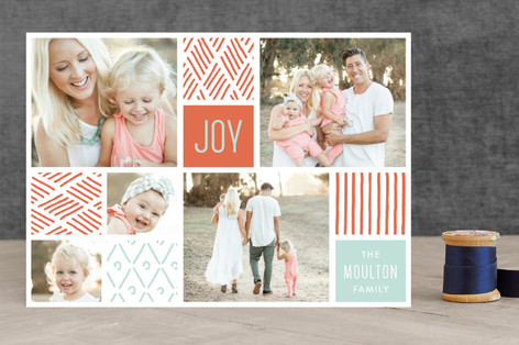 Collage Doodles Christmas Photo Cards