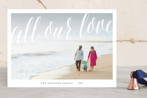 All our love Christmas Photo Cards