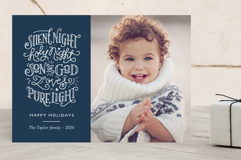 Silent holy night Christmas Photo Cards