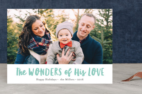 His wondrous love Christmas Photo Cards