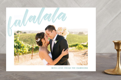 Waterbrushed Blessed Christmas Photo Cards