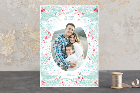 Etched Christmas Photo Cards