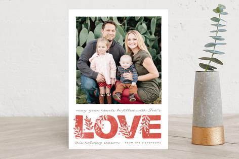 God's botanical love Christmas Photo Cards