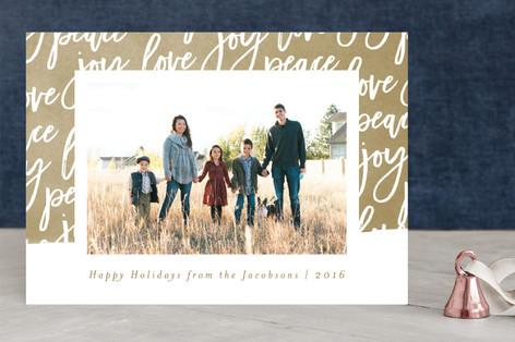 Swash of Joy Christmas Photo Cards