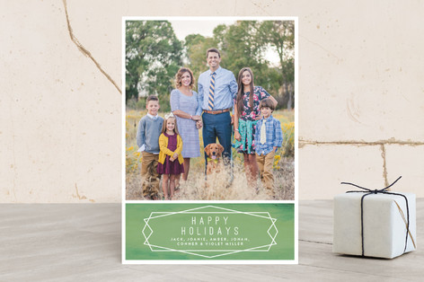 Geo Family Adventure Christmas Photo Cards