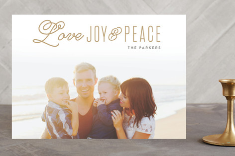Love Faith & Hope Christmas Photo Cards