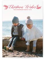 Botanical Christmas Blessings Christmas Photo Cards