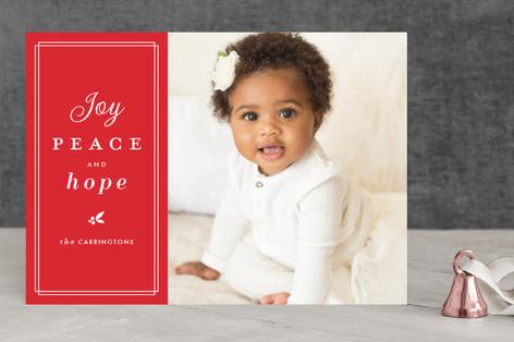 trim type Christmas Photo Cards