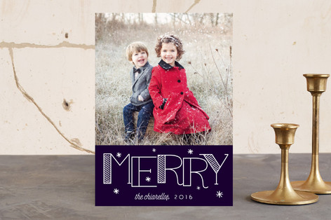 Merry Maze Christmas Photo Cards