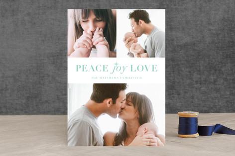 Hope Faith Love Christmas Photo Cards