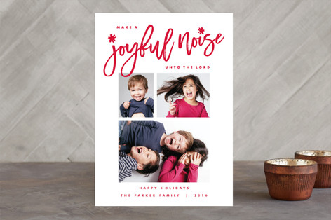 Joyful Noise Christmas Photo Cards