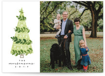 Decorated Tree Christmas Photo Cards